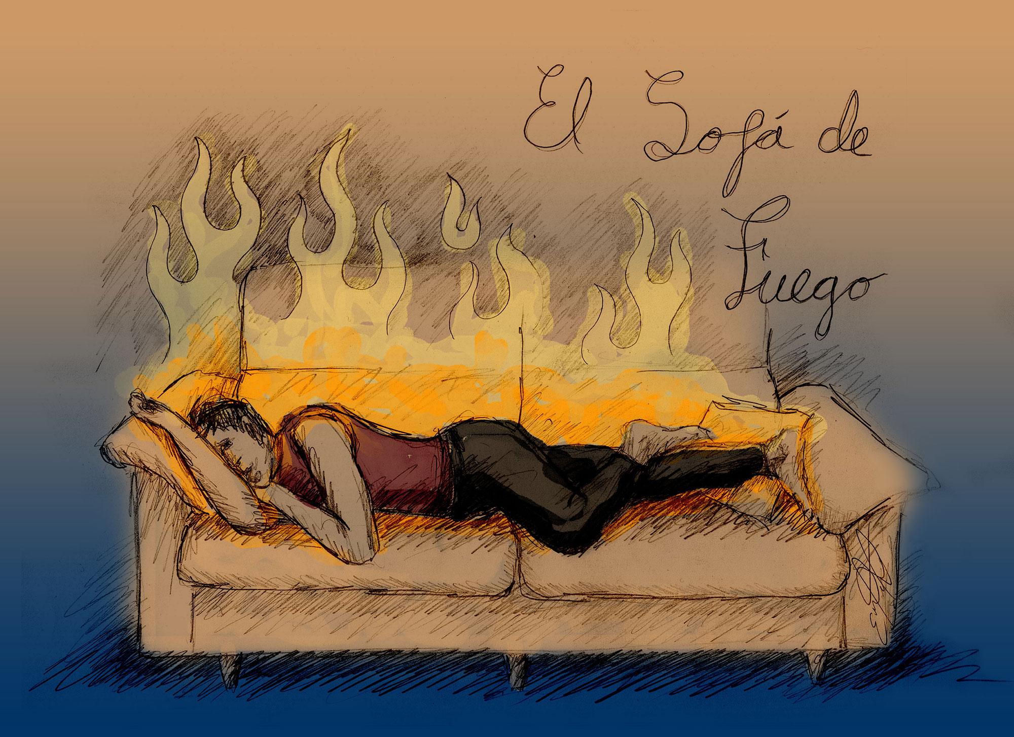 El Sofa De Fuego